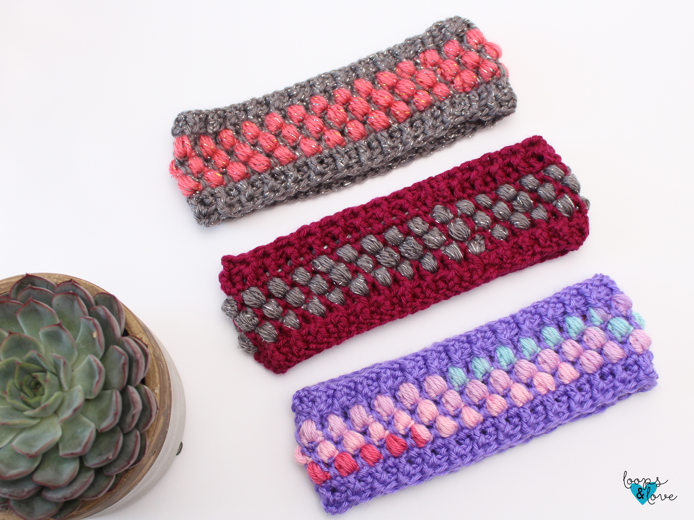 Puff Stitch Ear Warmer Crochet Pattern