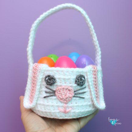 Crochet Bunny Basket Loops and Love Crochet