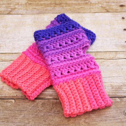 Criss Cross Fingerless Gloves