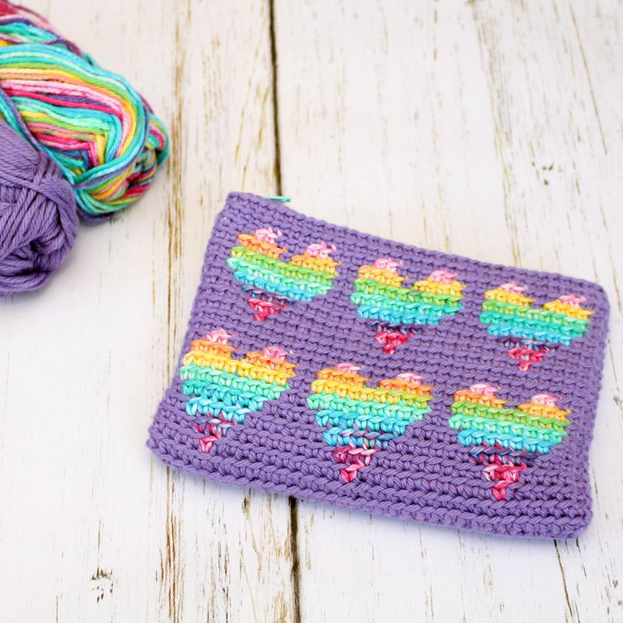 Rainbow Hearts Pouch