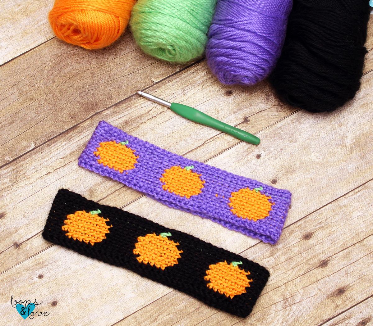 Crochet Pumpkin Headband - Free Crochet Pattern