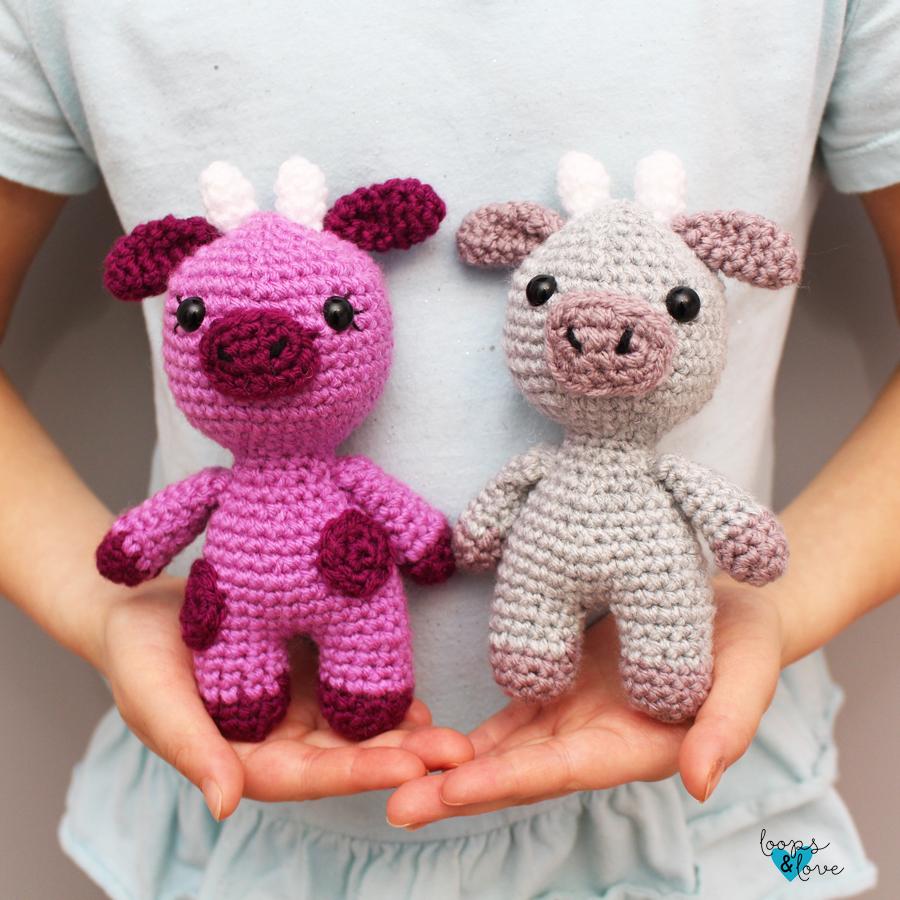 Mini Cow and Ox Amigurumi